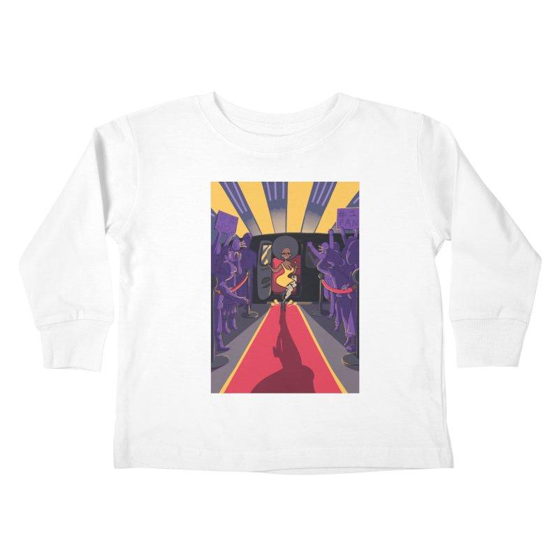Red Carpet Gala Card Art Kids Toddler Longsleeve T-Shirt by The Spiffai Shop