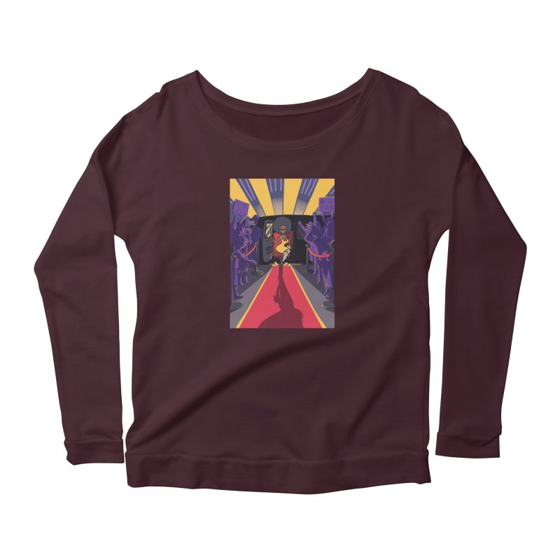 Red Carpet Gala Card Art Women's Scoop Neck Longsleeve T-Shirt by The Spiffai Shop
