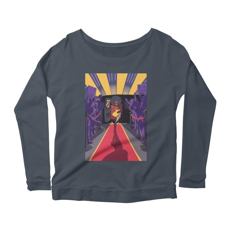 Red Carpet Gala Card Art Women's Scoop Neck Longsleeve T-Shirt by The Spiffai Shop