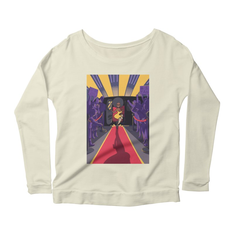 Red Carpet Gala Card Art Women's Longsleeve Scoopneck  by The Spiffai Shop