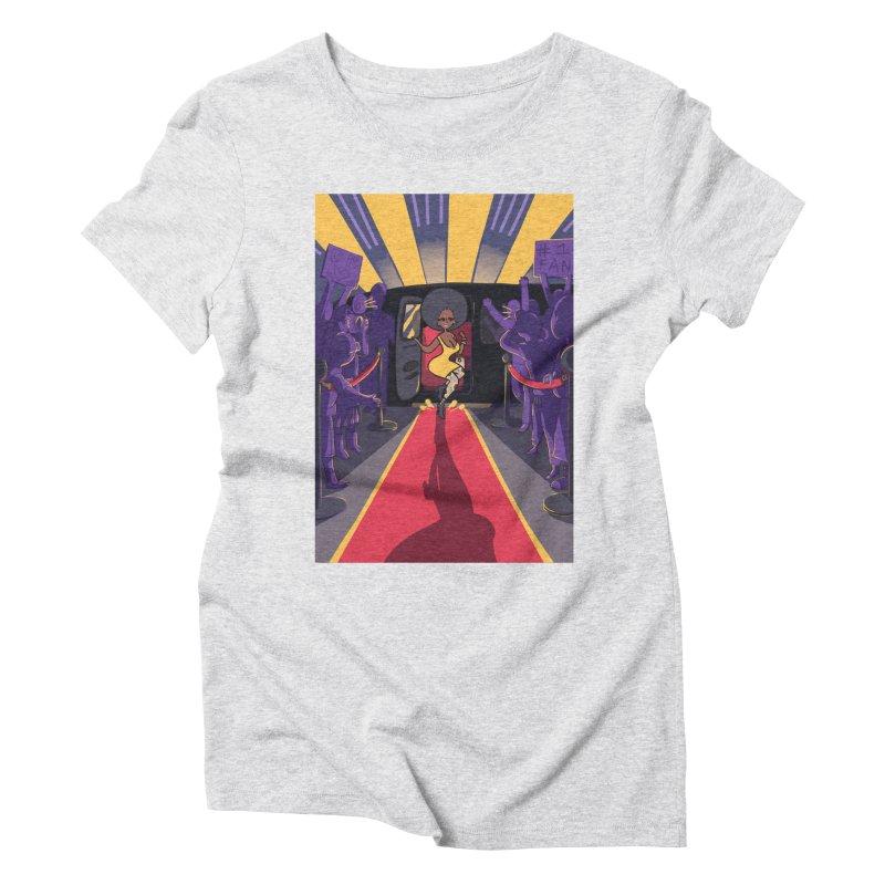 Red Carpet Gala Card Art Women's Triblend T-Shirt by The Spiffai Shop