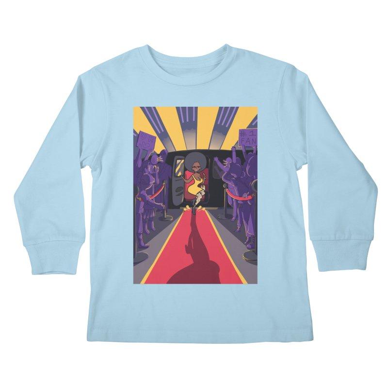 Red Carpet Gala Card Art Kids Longsleeve T-Shirt by The Spiffai Shop