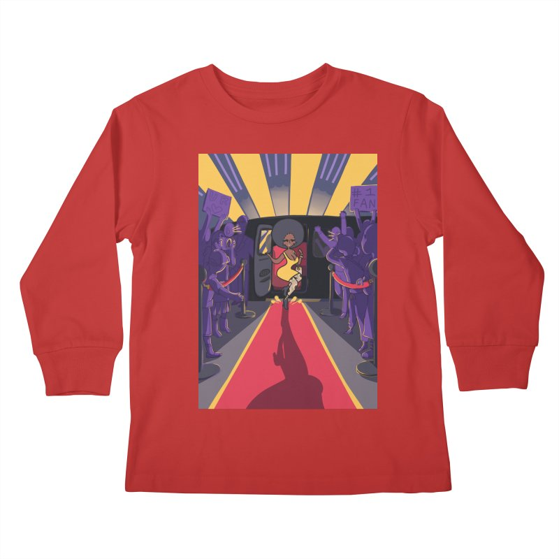 Red Carpet Gala Card Art Kids Longsleeve T-Shirt by The Spiffai Shop