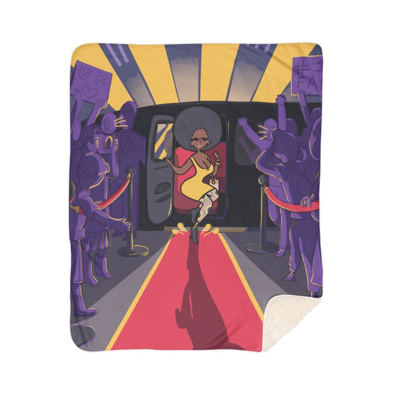 Red Carpet Gala Card Art Home Blanket by The Spiffai Shop