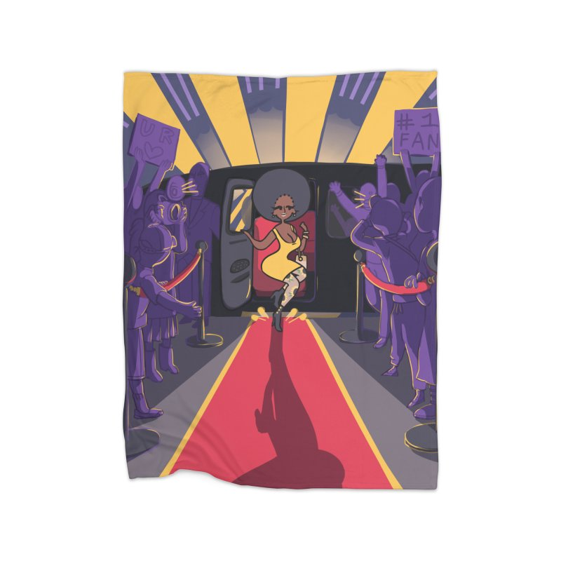 Red Carpet Gala Card Art Home Blanket by The Spiffai Shop