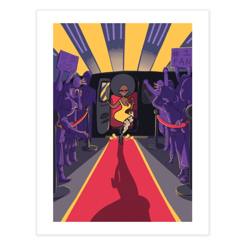 Red Carpet Gala Card Art Home Fine Art Print by The Spiffai Shop