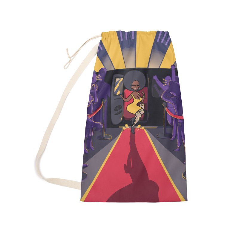 Red Carpet Gala Card Art Accessories Laundry Bag Bag by The Spiffai Shop