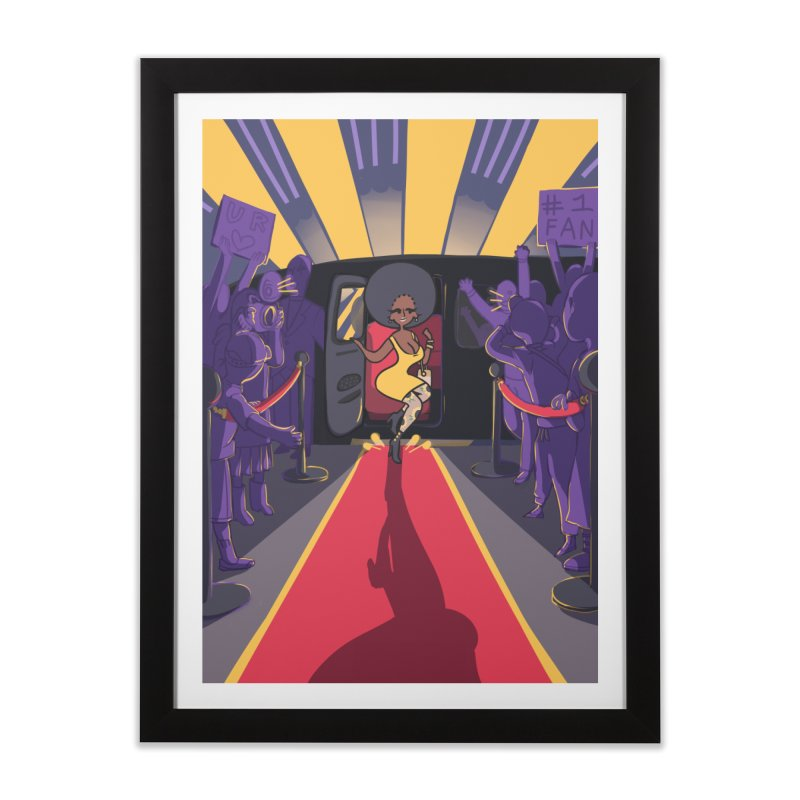 Red Carpet Gala Card Art Home Framed Fine Art Print by The Spiffai Shop