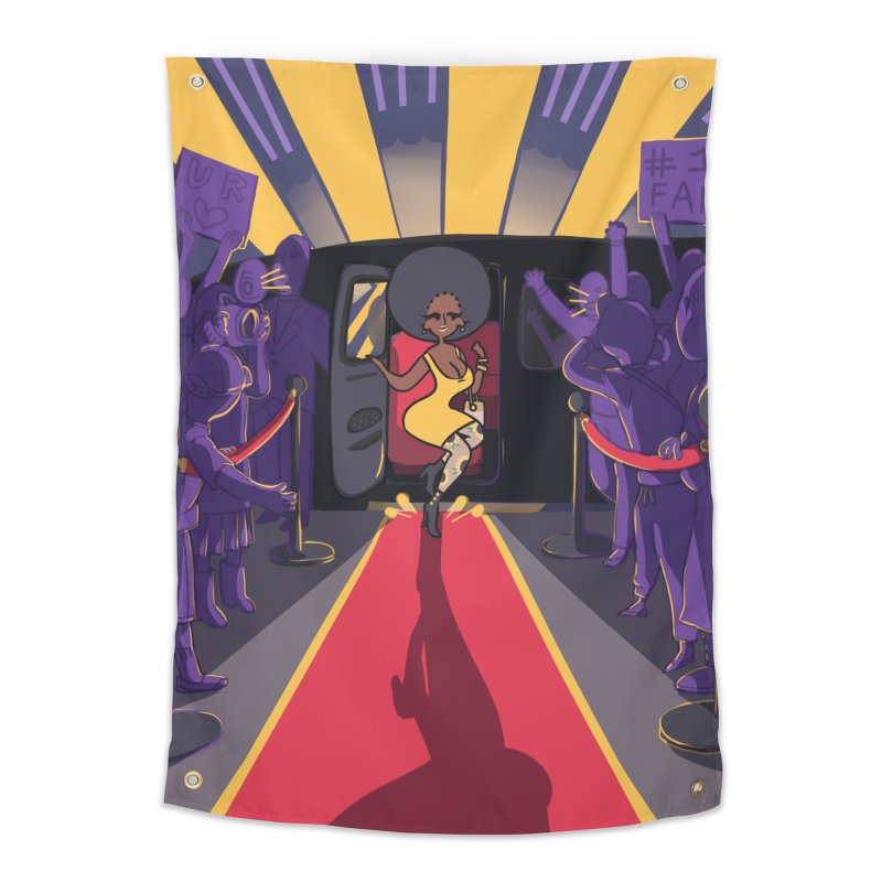 Red Carpet Gala Card Art Home Tapestry by The Spiffai Shop