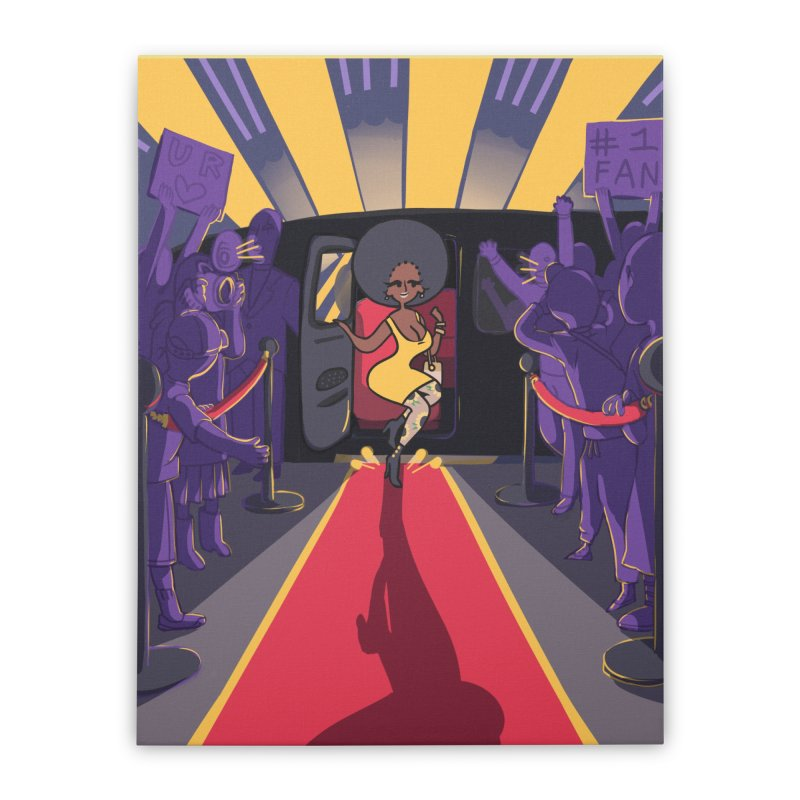 Red Carpet Gala Card Art Home Stretched Canvas by The Spiffai Shop