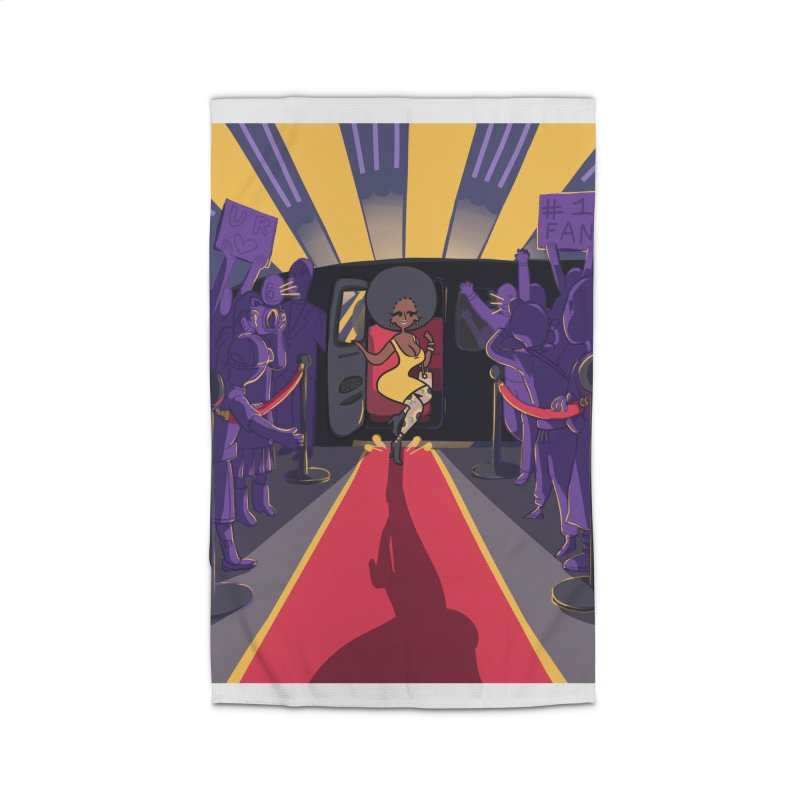 Red Carpet Gala Card Art Home Rug by The Spiffai Shop