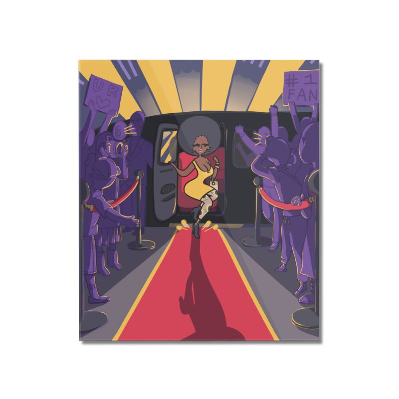 Red Carpet Gala Card Art Home Mounted Acrylic Print by The Spiffai Shop