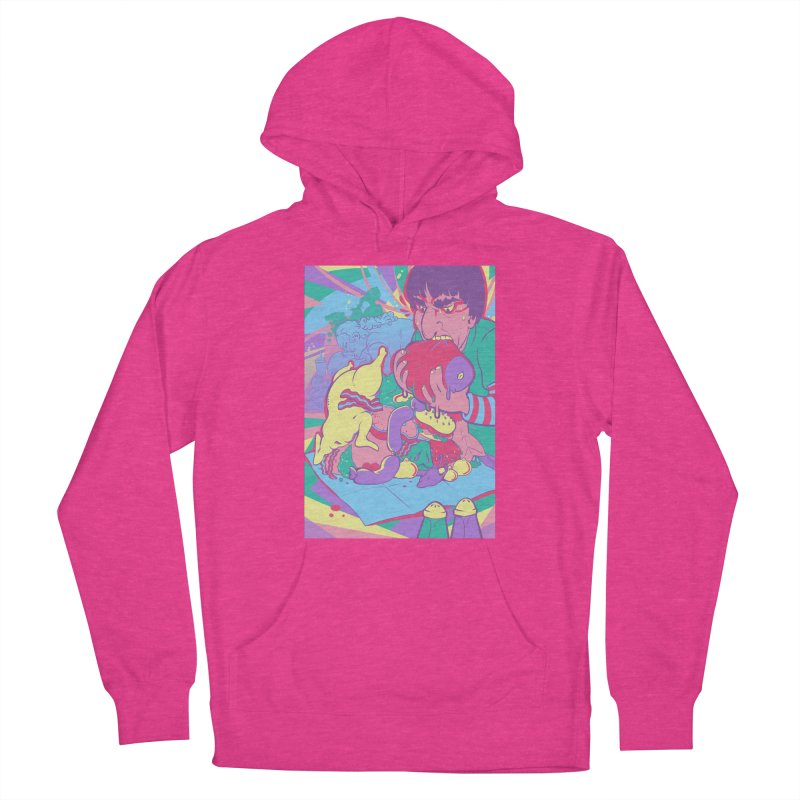 On Set of Man VS Meat Card Art Women's Pullover Hoody by The Spiffai Shop
