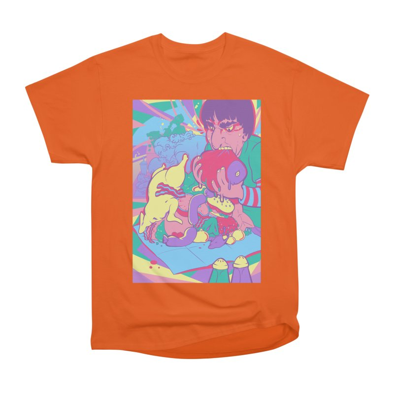 On Set of Man VS Meat Card Art Men's Heavyweight T-Shirt by The Spiffai Shop