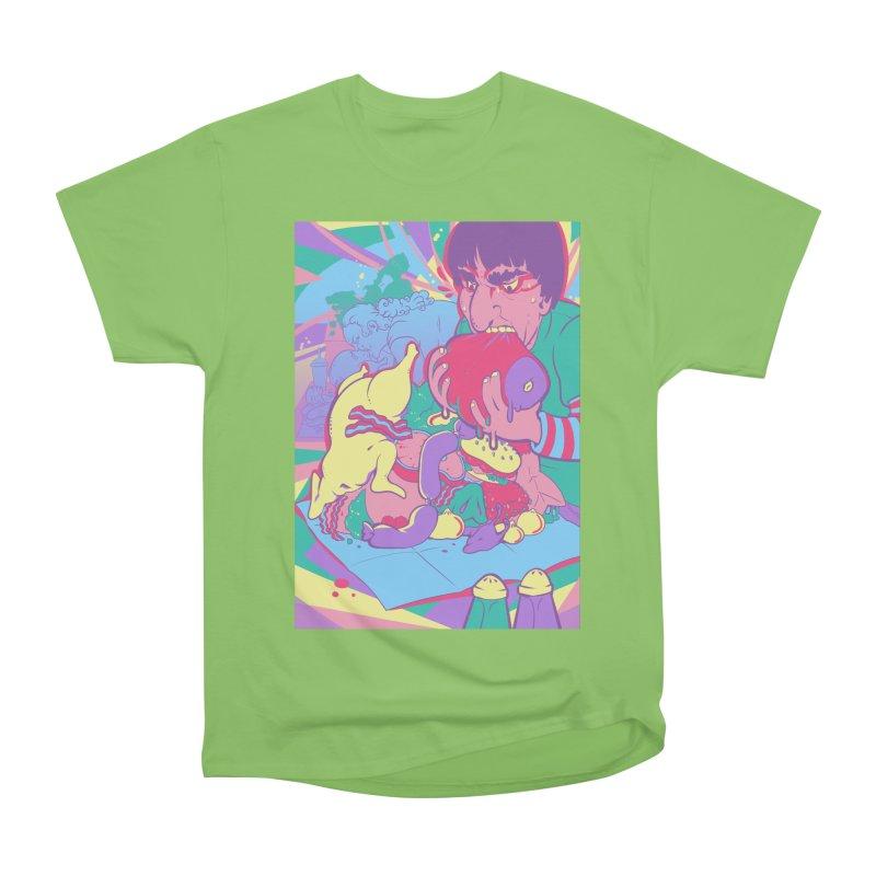 On Set of Man VS Meat Card Art Women's Heavyweight Unisex T-Shirt by The Spiffai Shop