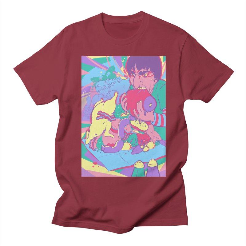 On Set of Man VS Meat Card Art Women's Regular Unisex T-Shirt by The Spiffai Shop