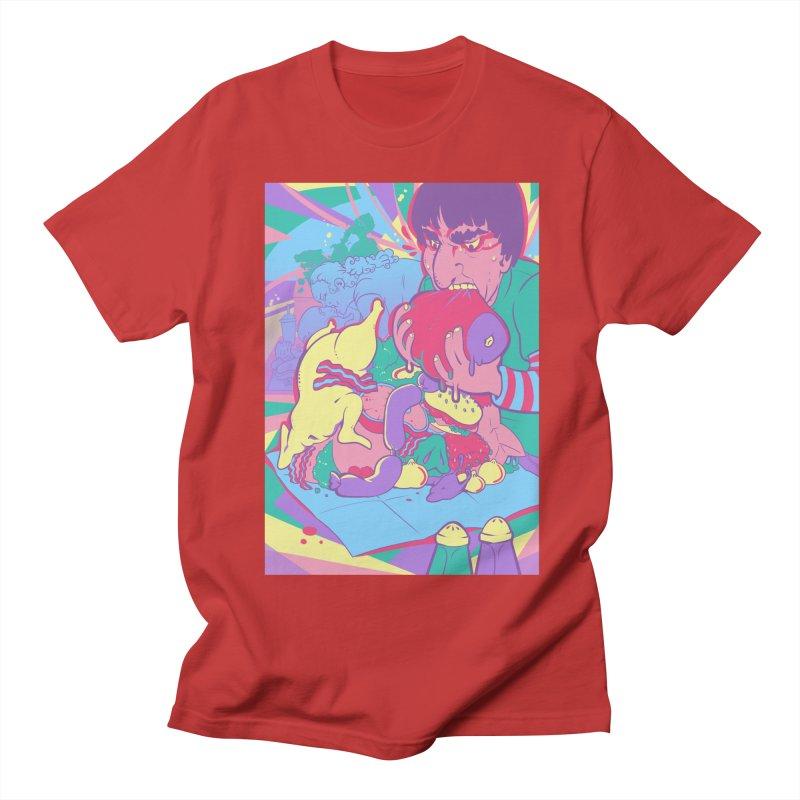 On Set of Man VS Meat Card Art Men's Regular T-Shirt by The Spiffai Shop