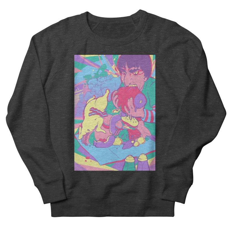 On Set of Man VS Meat Card Art Women's French Terry Sweatshirt by The Spiffai Shop