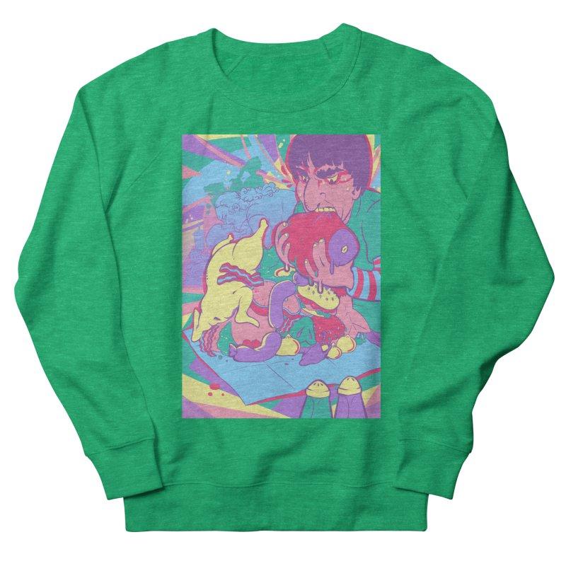 On Set of Man VS Meat Card Art Men's Sweatshirt by The Spiffai Shop