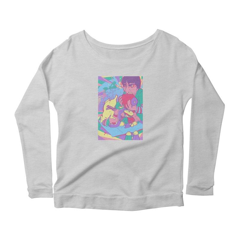 On Set of Man VS Meat Card Art Women's Scoop Neck Longsleeve T-Shirt by The Spiffai Shop