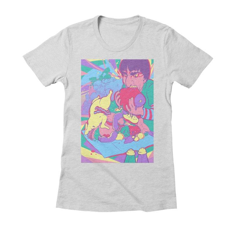 On Set of Man VS Meat Card Art Women's T-Shirt by The Spiffai Shop