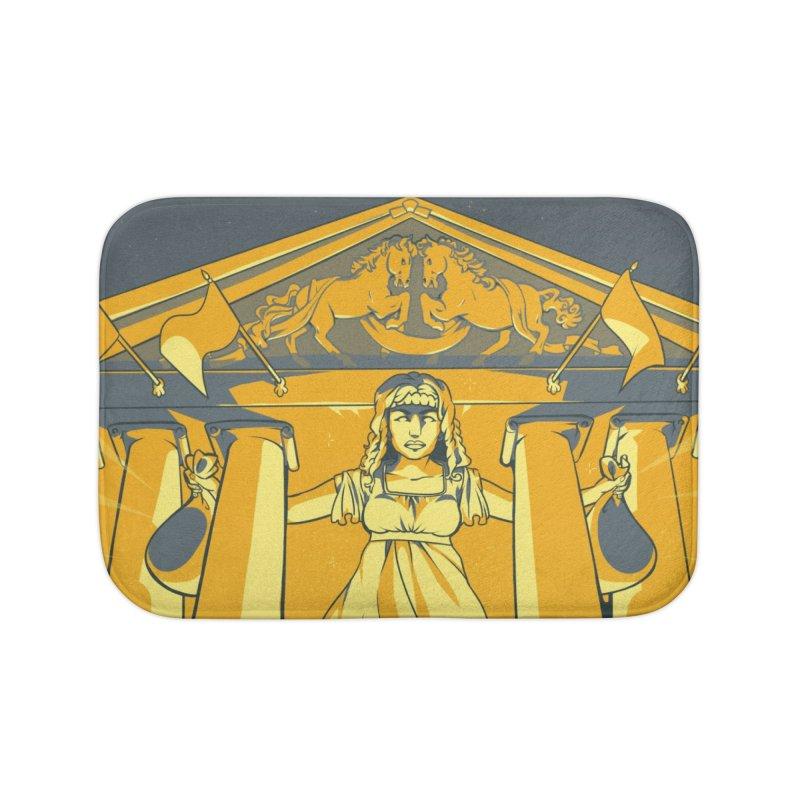 Third National Savings Bank Card Art Home Bath Mat by The Spiffai Shop