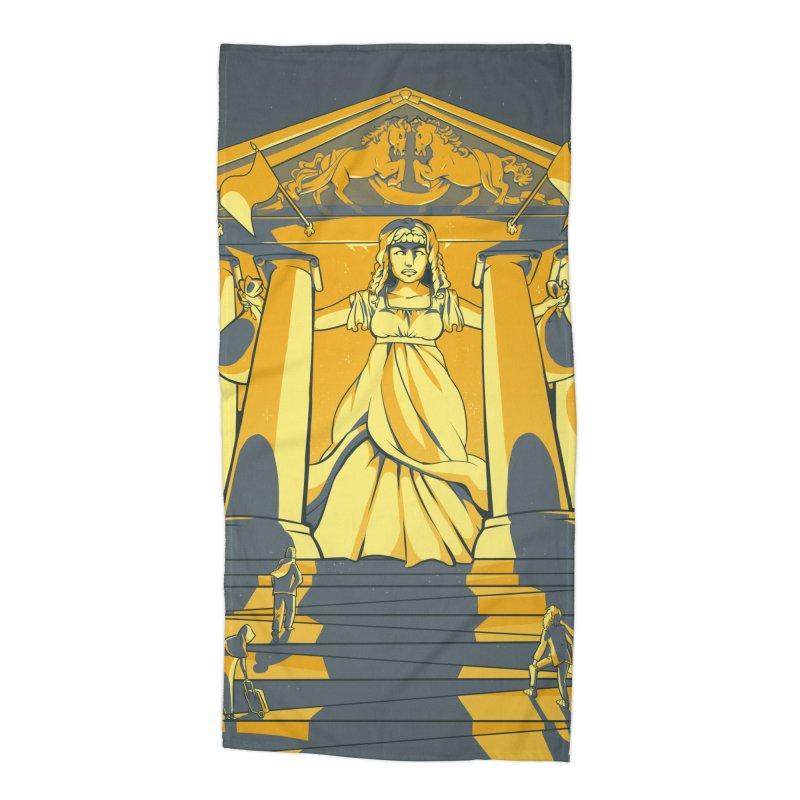 Third National Savings Bank Card Art Accessories Beach Towel by The Spiffai Shop