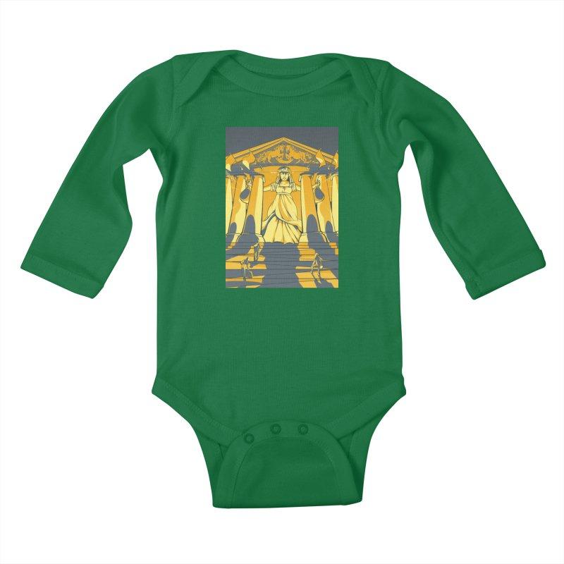Third National Savings Bank Card Art Kids Baby Longsleeve Bodysuit by The Spiffai Shop
