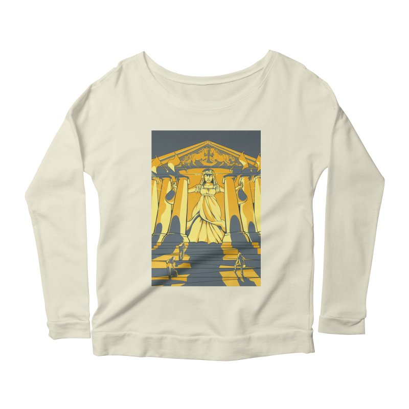 Third National Savings Bank Card Art Women's Longsleeve Scoopneck  by The Spiffai Shop