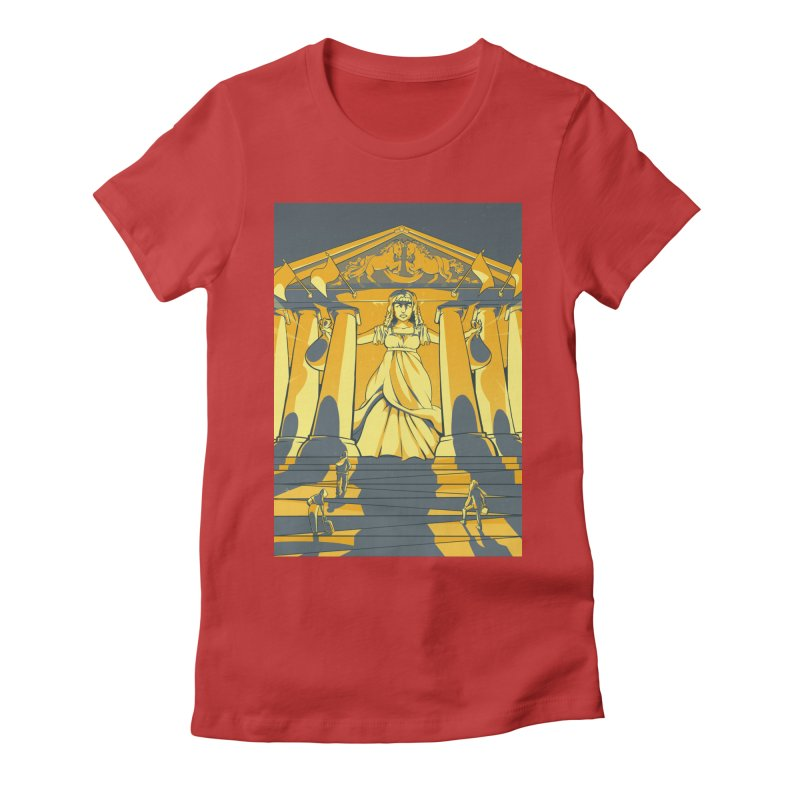 Third National Savings Bank Card Art Women's Fitted T-Shirt by The Spiffai Shop