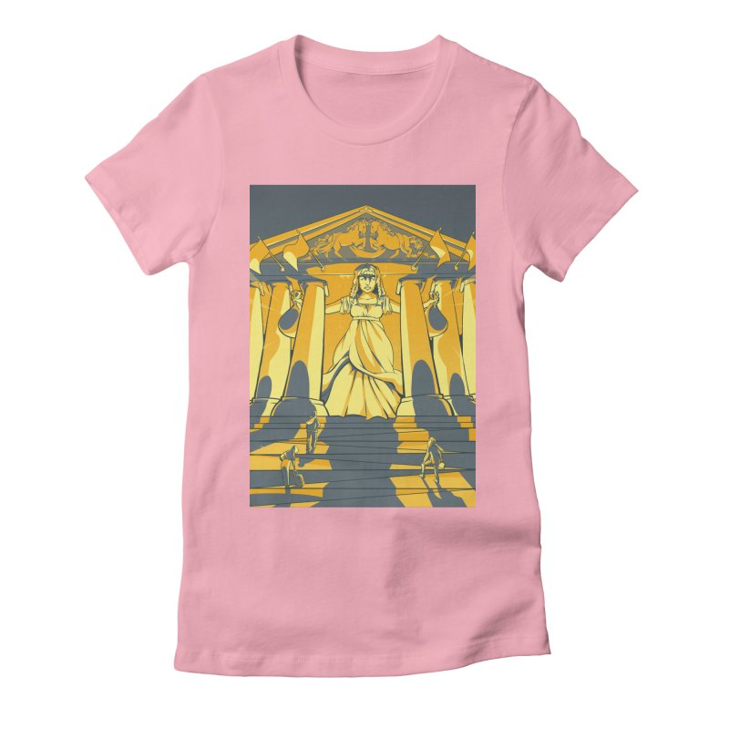 Third National Savings Bank Card Art Women's Fitted T-Shirt by The Spiffai Shop
