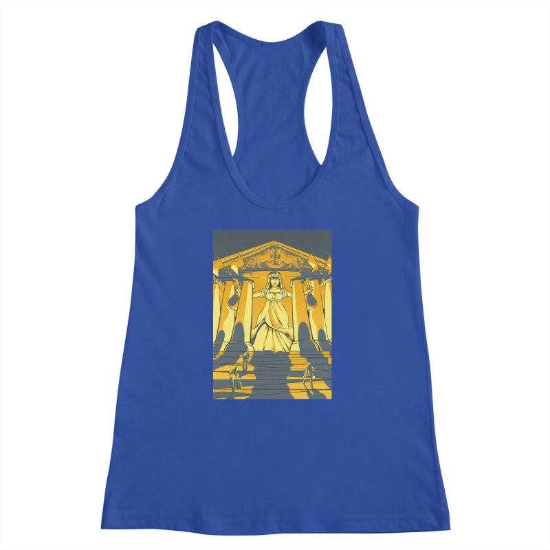Third National Savings Bank Card Art Women's Racerback Tank by The Spiffai Shop
