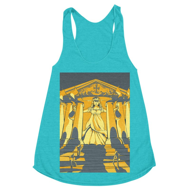 Third National Savings Bank Card Art Women's Racerback Triblend Tank by The Spiffai Shop