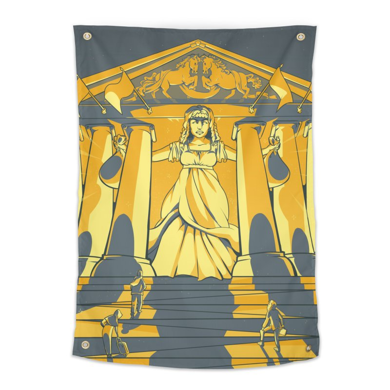 Third National Savings Bank Card Art Home Tapestry by The Spiffai Shop