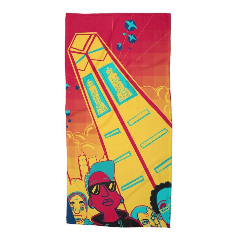 Presidential Tower Card Art Accessories Beach Towel by The Spiffai Shop