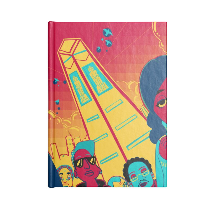 Presidential Tower Card Art Accessories Notebook by The Spiffai Shop