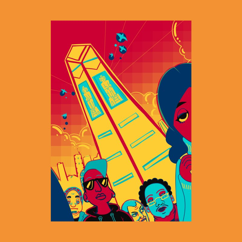 Presidential Tower Card Art by The Spiffai Shop