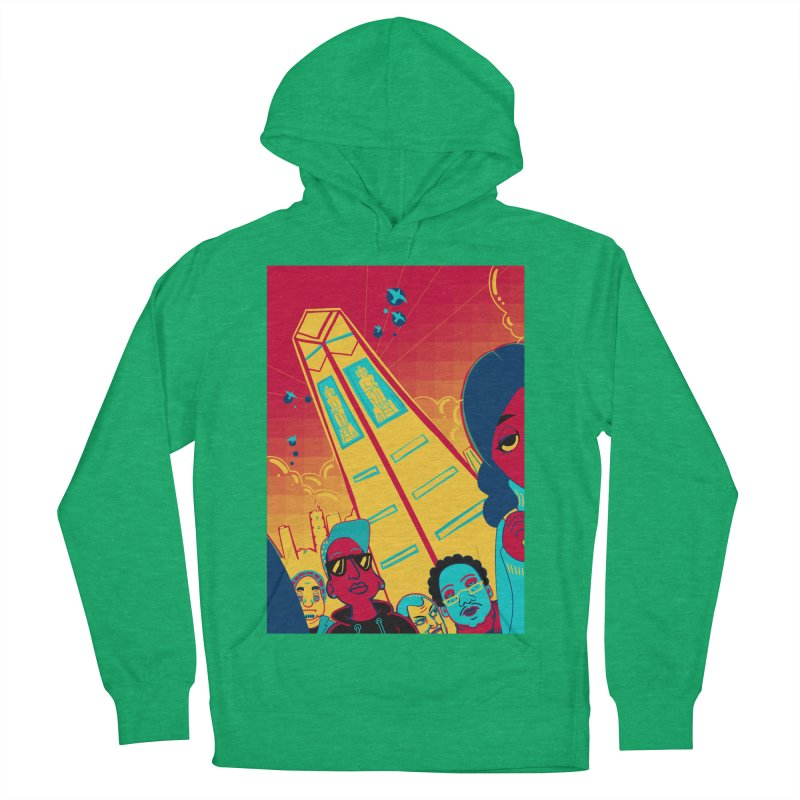 Presidential Tower Card Art Women's French Terry Pullover Hoody by The Spiffai Shop
