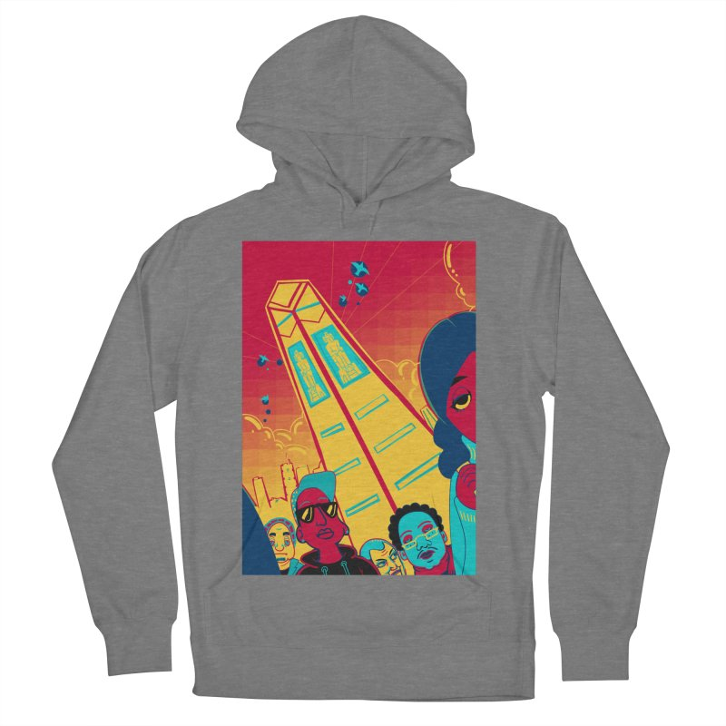 Presidential Tower Card Art Men's French Terry Pullover Hoody by The Spiffai Shop