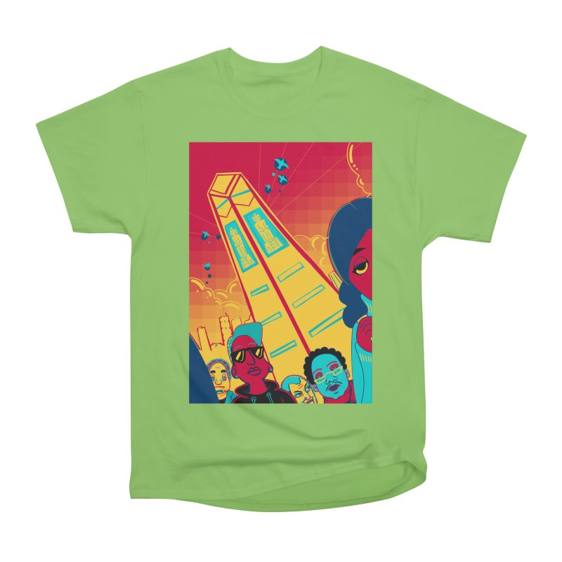 Presidential Tower Card Art Women's Heavyweight Unisex T-Shirt by The Spiffai Shop