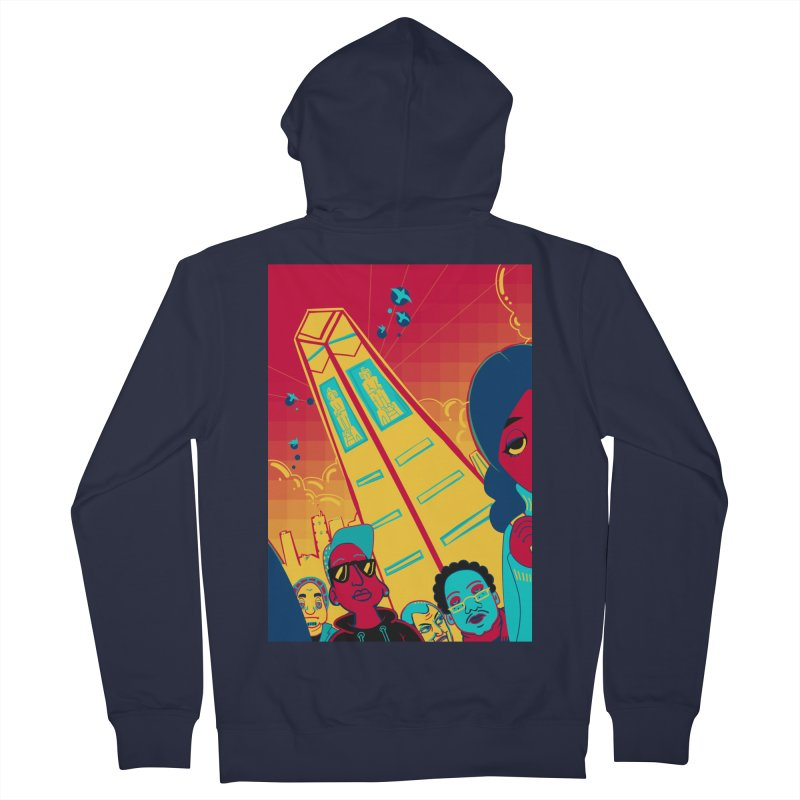 Presidential Tower Card Art Women's French Terry Zip-Up Hoody by The Spiffai Shop