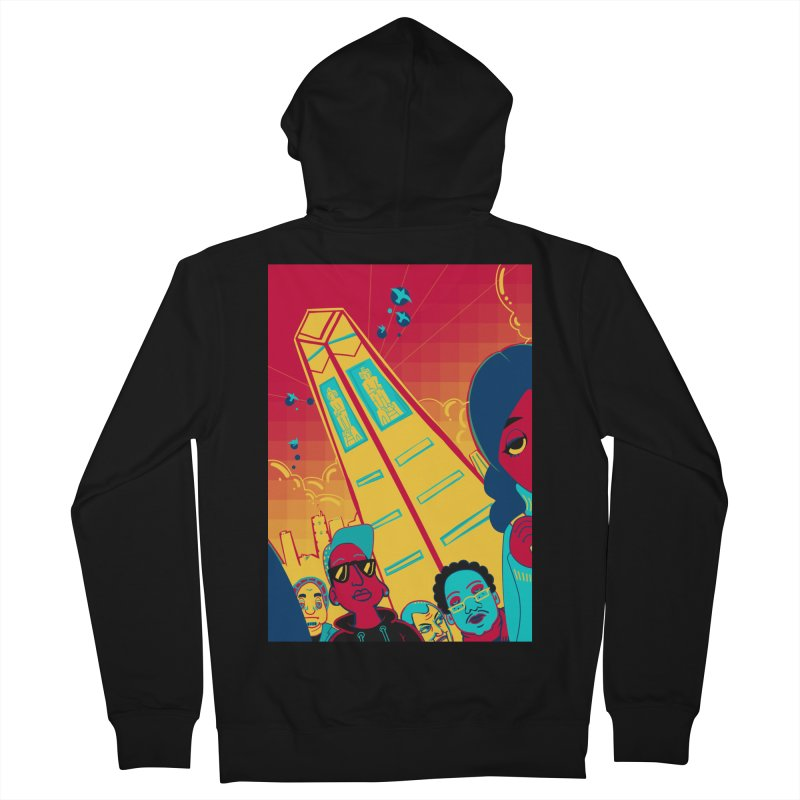 Presidential Tower Card Art Men's French Terry Zip-Up Hoody by The Spiffai Shop