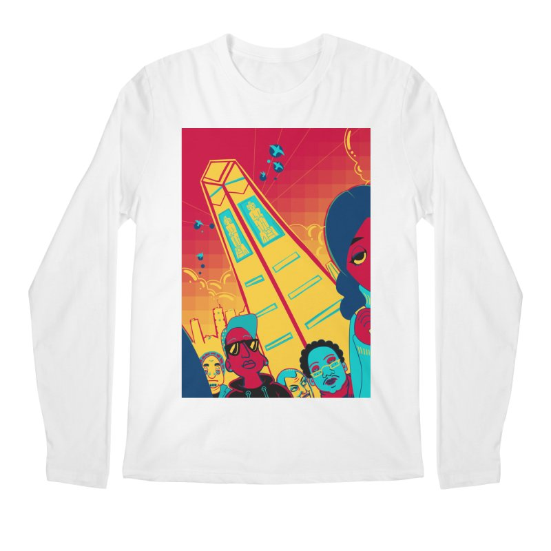 Presidential Tower Card Art Men's Regular Longsleeve T-Shirt by The Spiffai Shop