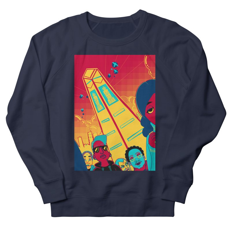 Presidential Tower Card Art Women's French Terry Sweatshirt by The Spiffai Shop