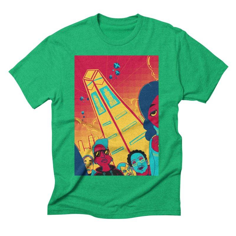 Presidential Tower Card Art Men's Triblend T-Shirt by The Spiffai Shop