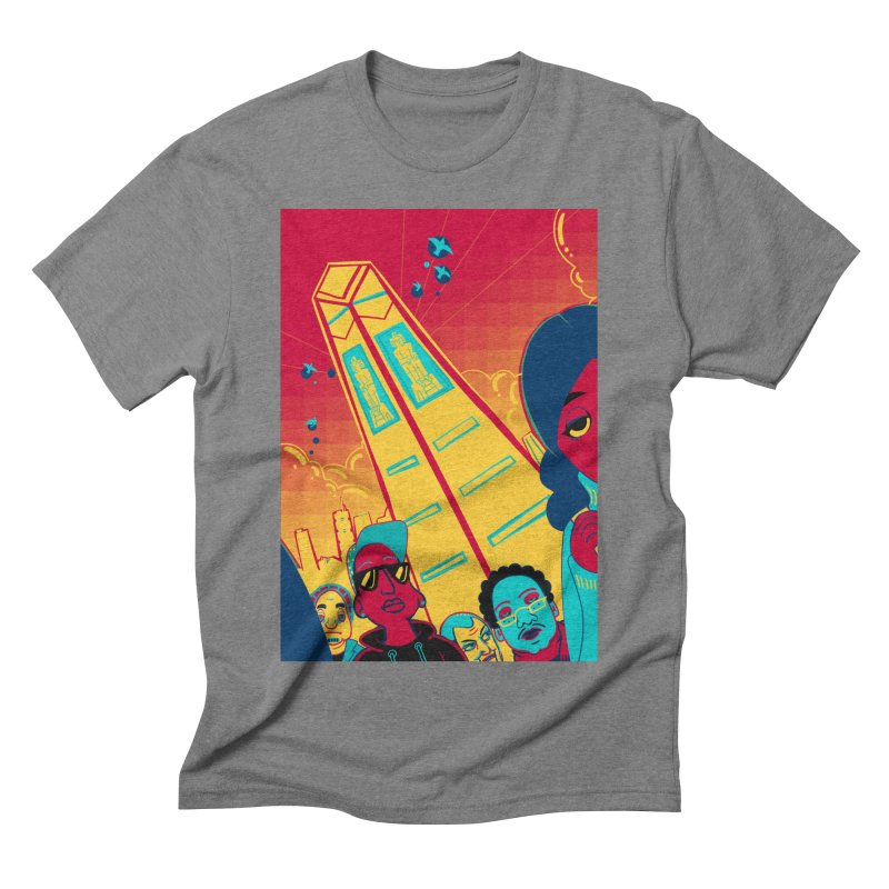 Presidential Tower Card Art Men's Triblend T-Shirt by The Spiffai Shop