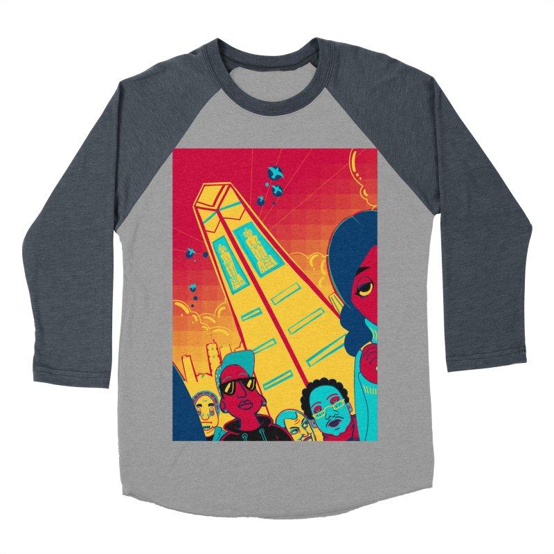 Presidential Tower Card Art Men's Baseball Triblend Longsleeve T-Shirt by The Spiffai Shop