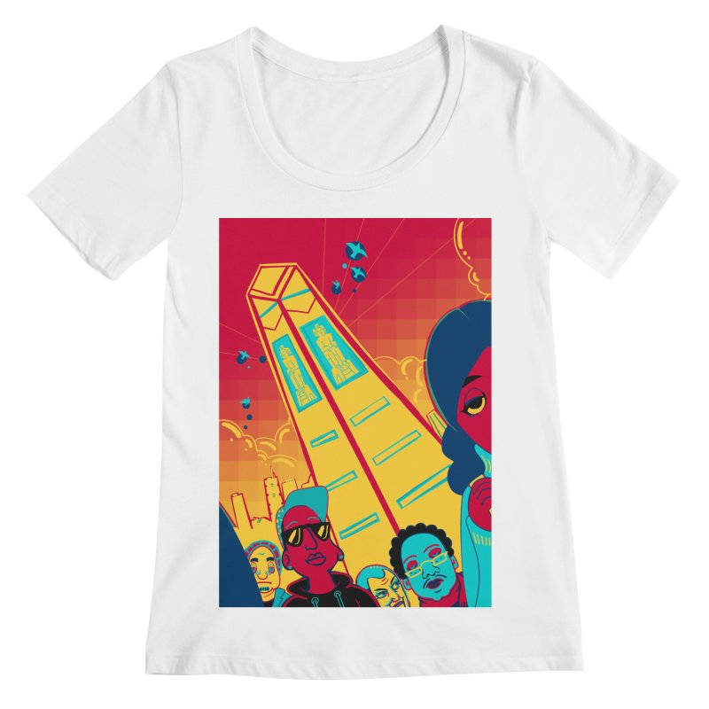 Presidential Tower Card Art Women's Regular Scoop Neck by The Spiffai Shop