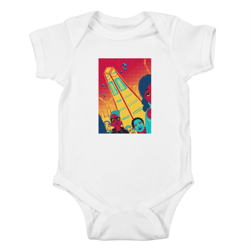 Presidential Tower Card Art Kids Baby Bodysuit by The Spiffai Shop