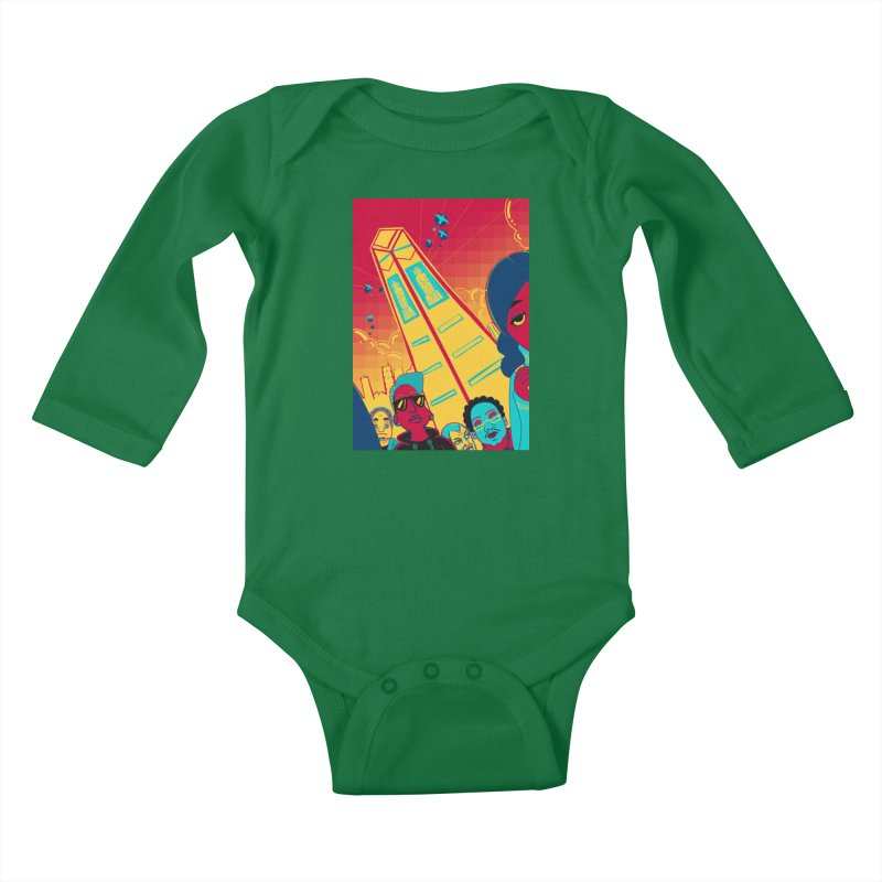 Presidential Tower Card Art Kids Baby Longsleeve Bodysuit by The Spiffai Shop